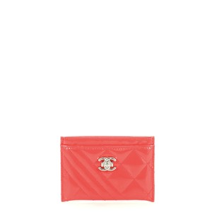 Chanel Coco Boy Patent Wristlet in pink