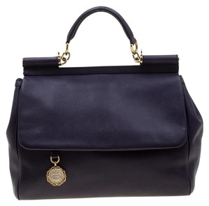 Dolce&Gabbana Leather Fabric Tote in Purple