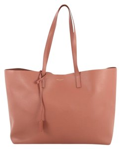 Saint Laurent Shopper Leather Tote in pink
