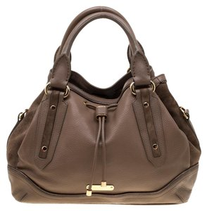 Burberry Leather Nylon Shoulder Bag