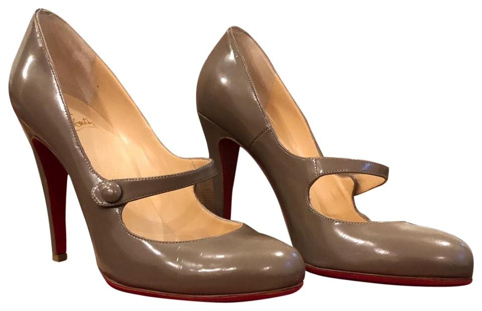 huge discount 01c67 f54e4 Christian Louboutin Ecru/Gray Mary Jane Heels Pumps Size EU 39 (Approx. US  9) Regular (M, B) 40% off retail
