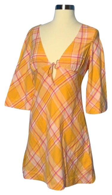 Item - Orange and Pink Rn 54023 Short Casual Dress Size 2 (XS)