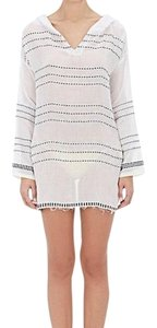 lemlem Striped Hooded Tunic Cover Up