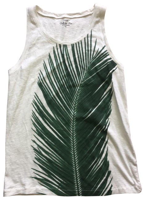 Item - Ivory with Green Collector Tee Tank Top/Cami Size 2 (XS)