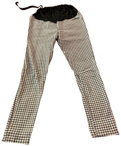 N/A Black and White Checkered Maternity Pants