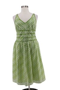 Amanda Lane short dress Green Polka Dot Chiffon Lined Fit & Flare on Tradesy
