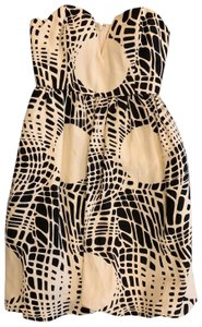 Ali Ro short dress Black and Ivory on Tradesy