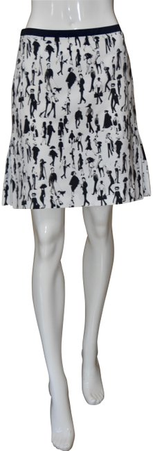 Item - Black & White Haute Couture Printed Skirt Size 6 (S, 28)