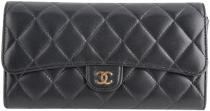 Chanel Chanel CC Quilted Gusset Classic Flap Wallet