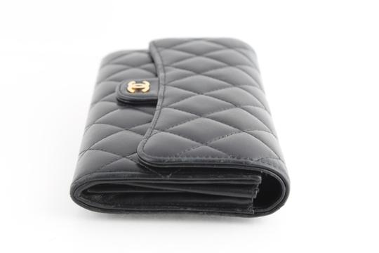 Chanel Chanel CC Quilted Gusset Classic Flap Wallet Image 2