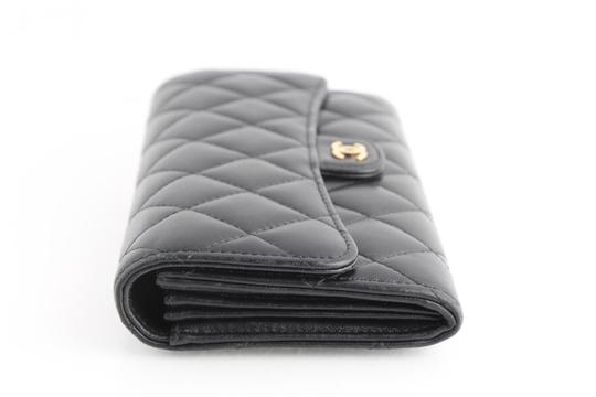 Chanel Chanel CC Quilted Gusset Classic Flap Wallet Image 3