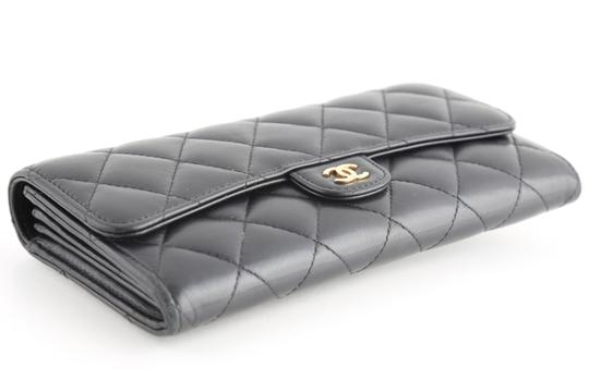 Chanel Chanel CC Quilted Gusset Classic Flap Wallet Image 4