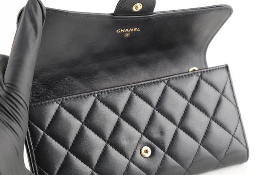 Chanel Chanel CC Quilted Gusset Classic Flap Wallet Image 6