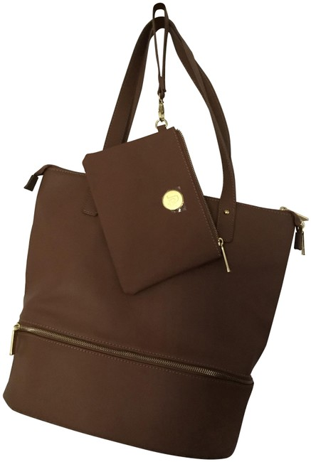 Item - Pebble Camel Leather Tote