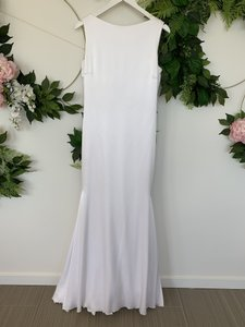 Pronovias Off White Satin Raim Sexy Wedding Dress Size 8 (M)