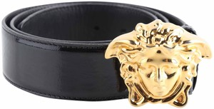 Versace Versace Black Patent Leather with Medusa Buckle