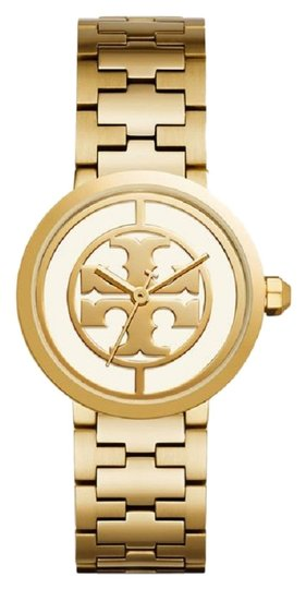 Tory Burch Reva Gold Ion Plated Steel Quartz Ladies Watch TB4025 Image 0