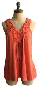 Willow & Clay Summer Knit Top orange