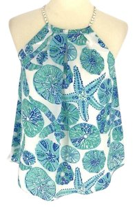 Lilly Pulitzer for Target blue Halter Top