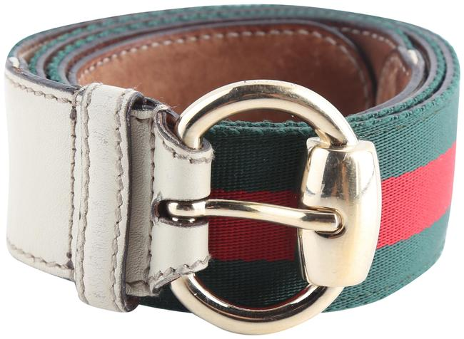 Item - Multi-color Green/Red Stripe Canvas Belt