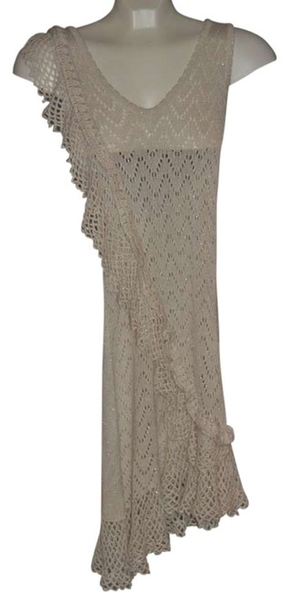 Marciano short dress Cream With Silver Shimmer Throughout 'dressy' 'fun Night Out' Cocktail Super Soft Fabric Stretchy on Tradesy