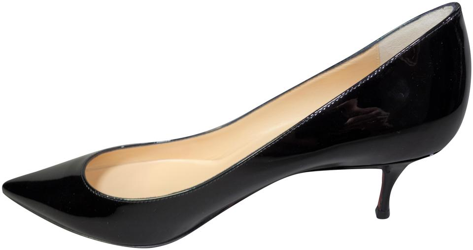 e12a38318f8 Christian Louboutin Black Pigalle Follies 55 Patent Leather Kitten Heels  Sold Out New Pumps Size EU 38.5 (Approx. US 8.5) Regular (M, B)