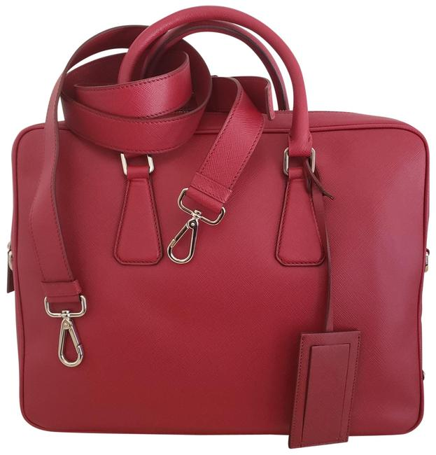 Item - Saffiano Travel Red Leather Laptop Bag