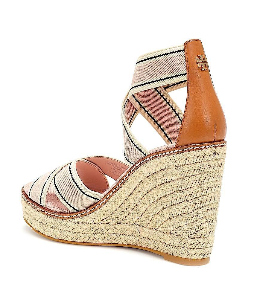 aafc9d41211 Tory Burch Tan with Tag Frieda Strappy Woven Espadrilles Wedges Sandals  Size US 7.5 Regular (M, B) 38% off retail
