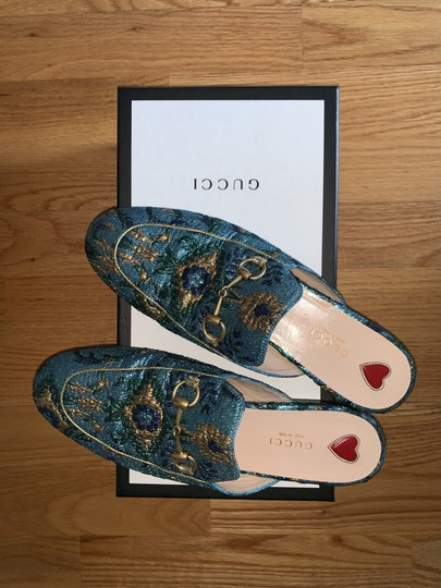 Gucci Brocade Princetown Embroidered Multicolor Mules Image 4