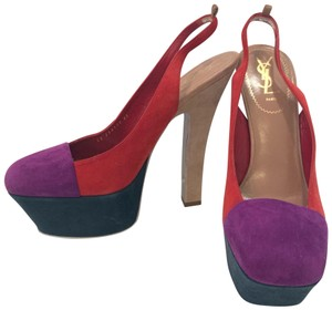 Saint Laurent Purple, Green, Beige, Red Platforms
