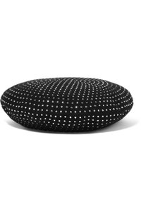 Saint Laurent Saint Laurent Black Beret in Wool Decorated with Crystals