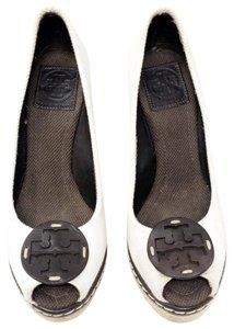 Tory Burch Cream and brown Wedges