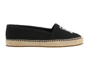 Burberry Canvas Leather Rubber Black Flats