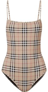 Burberry checked swimsuit body suit xs