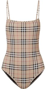 Burberry checked swimsuit body suit small