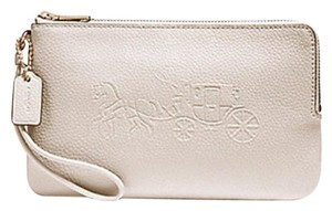 Coach Coach DOUBLE ZIP WALLET WITH EMBOSSED HORSE AND CARRIAGE F23818