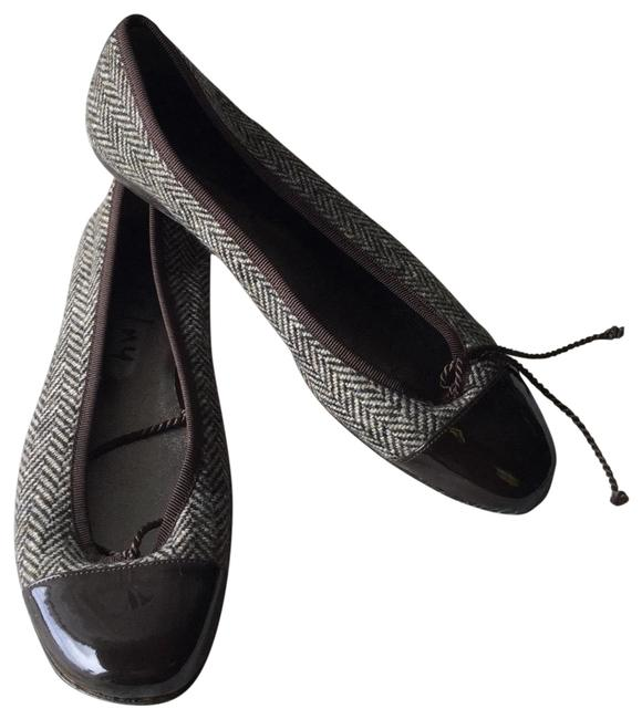 Item - Brown Fs/Ny Women's Grand Patent Leather Tweed Ballet Flats Size US 8 Regular (M, B)