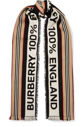 Preload https://img-static.tradesy.com/item/25803620/burberry-fringed-intarsia-ribbed-cotton-scarfwrap-0-0-540-540.jpg