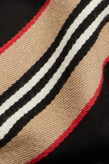 Burberry Fringed intarsia ribbed cotton scarf Image 3