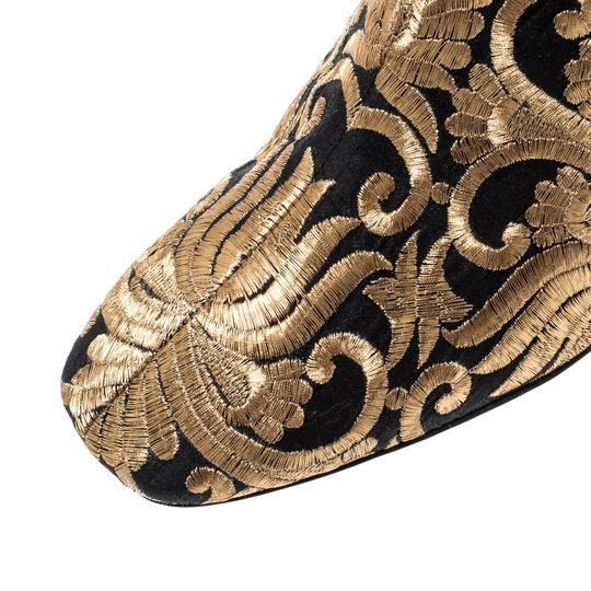 Tory Burch Metallic Fabric Ankle Gold Boots Image 6