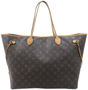Louis Vuitton Lv Neverfull Gm Monogram Canvas Shoulder Bag - item med img