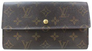 Louis Vuitton Monogram Trifold Long Sarah Wallet Portefeuille Tresor 871033