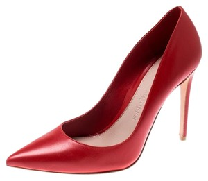 Alexander McQueen Leather Pointed Red Pumps