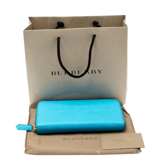 Burberry Bright Blue Leather Zip Around Wallet Image 5
