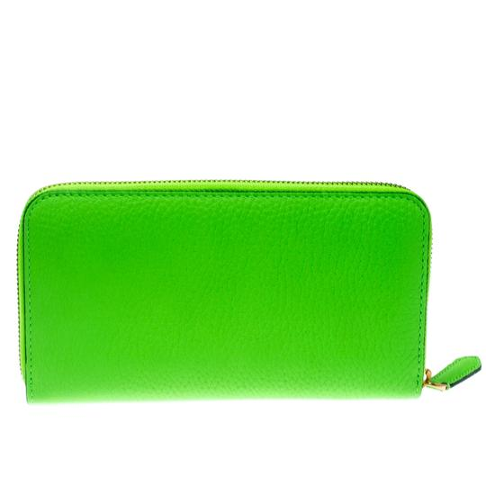 Burberry Bright Green Leather Zip Around Wallet Image 1