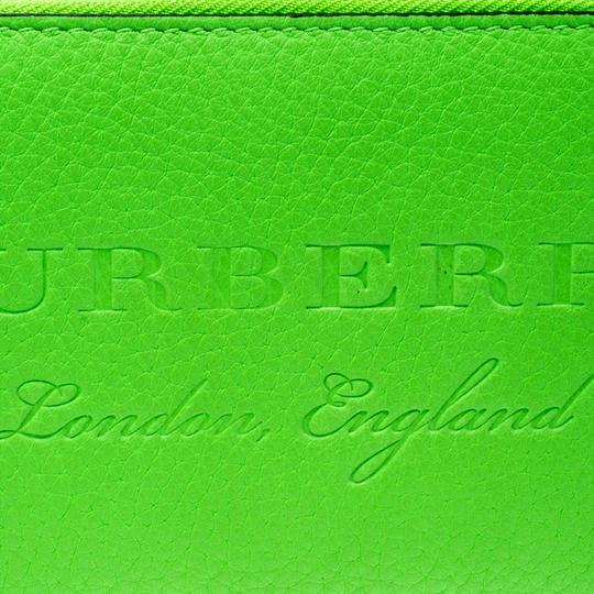 Burberry Bright Green Leather Zip Around Wallet Image 4
