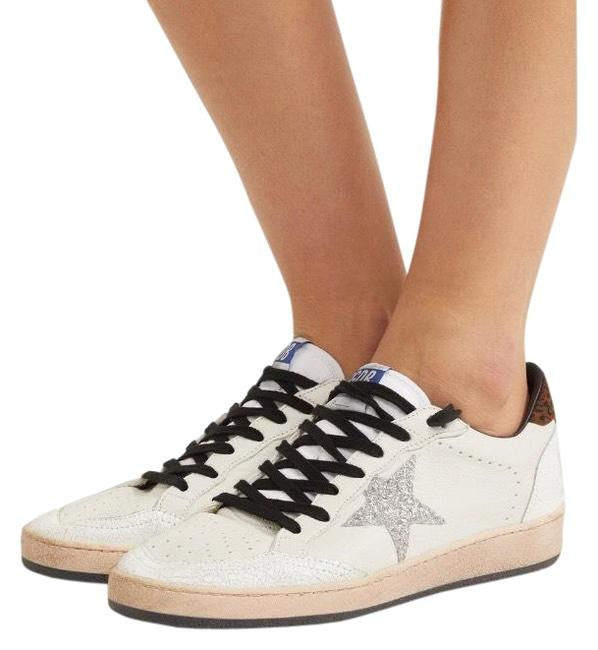 Item - Ball Star Distressed Leather Sneakers Size EU 38 (Approx. US 8) Regular (M, B)