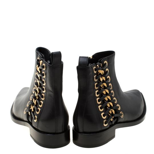 Alexander McQueen Leather Detail Ankle Black Boots Image 2