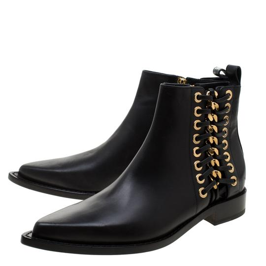 Alexander McQueen Leather Detail Ankle Black Boots Image 4