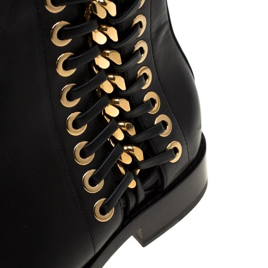 Alexander McQueen Leather Detail Ankle Black Boots Image 6